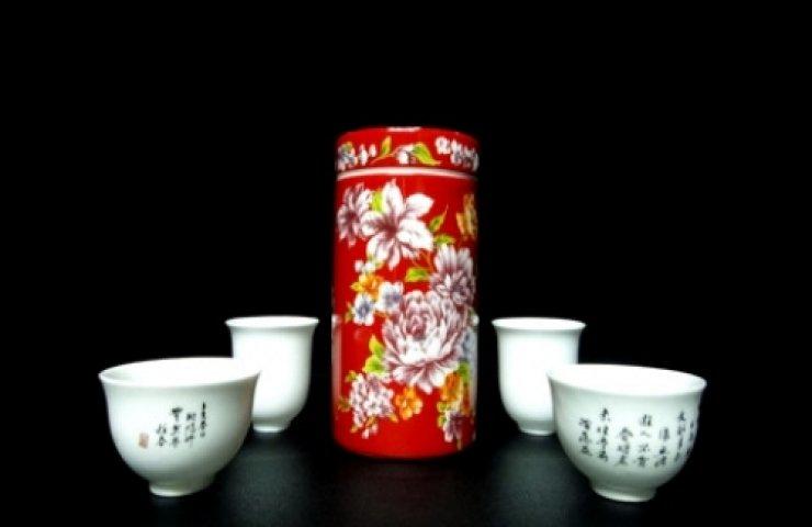 CooNaTea 阿里山茶包裝-彩繪瓷罐